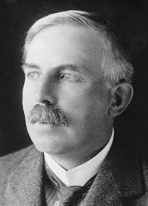 Ernest Rutherford (1871-1937).