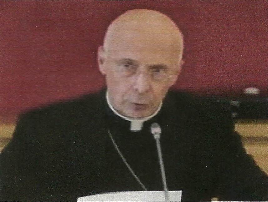 """Il cardinale Angelo Bagnasco""."